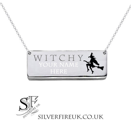 witchy necklace personalised
