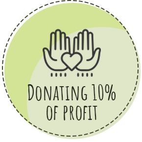 10% of profit will be donated