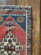 "Load image into Gallery viewer, Jenny - 1'9"" x 3'7"" Vintage Turkish Oushak Rug"