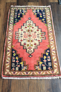 "Louisa - 1'7-1/2"" x 3'1"" Vintage Turkish Anatolian Rug"