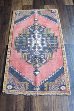 "Load image into Gallery viewer, Gloria - 1'10"" x 3'6-1/4"" Vintage Turkish Oushak Rug"