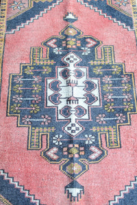 "Gloria - 1'10"" x 3'6-1/4"" Vintage Turkish Oushak Rug"