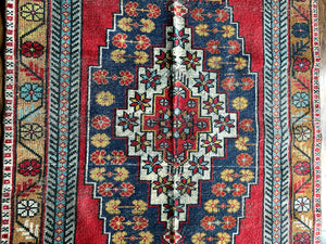 Lynn - 4.2' x 9' Vintage Turkish Oushak Area Rug