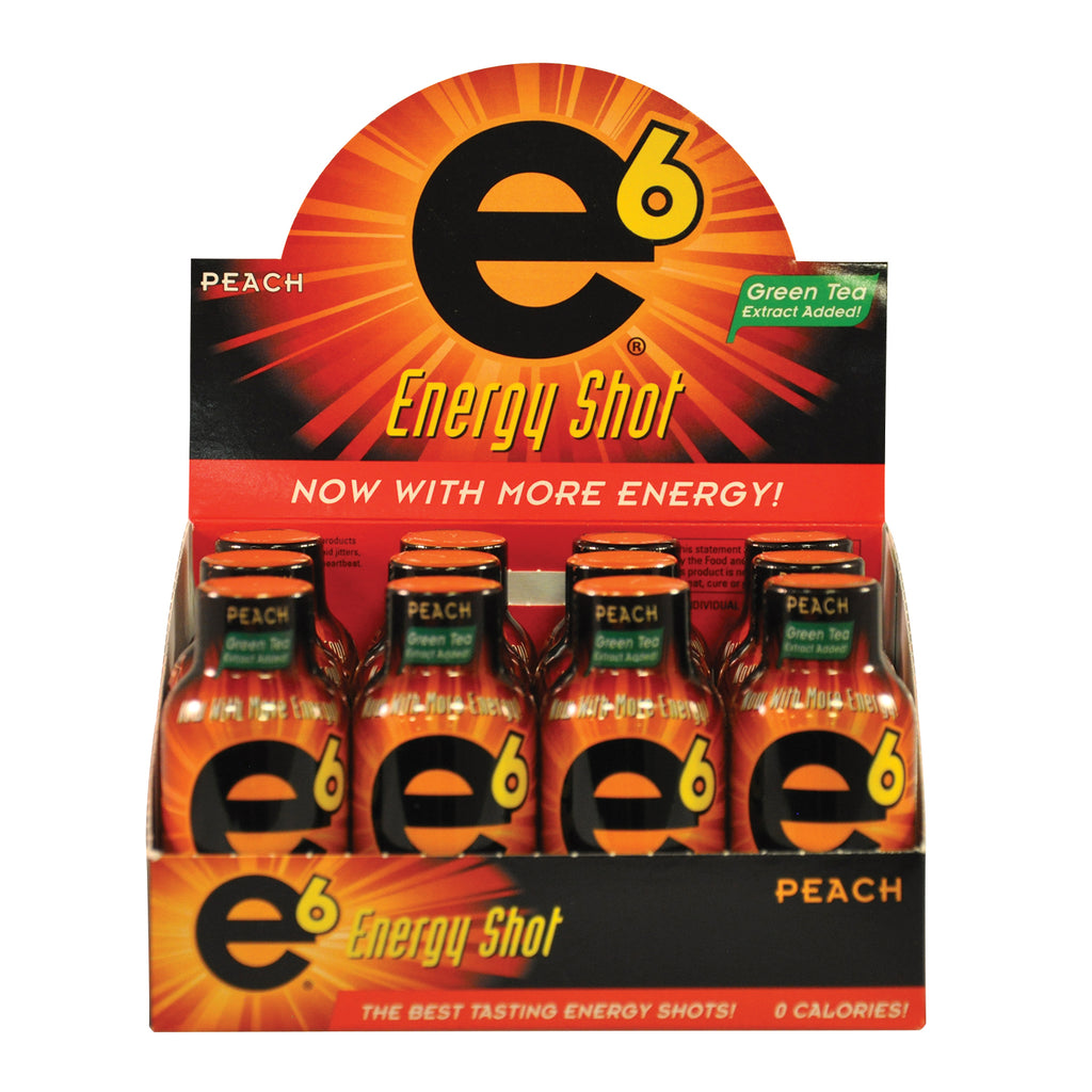Peach Energy Shot 12 Pack