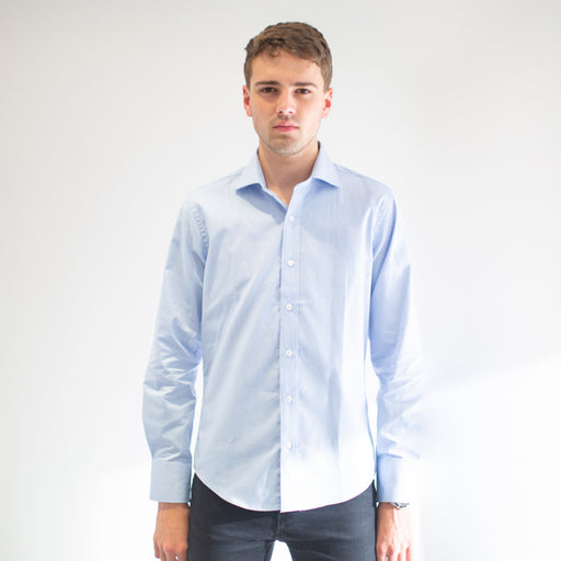 Grind - Men's Blue Dress Shirt - Threadsmiths