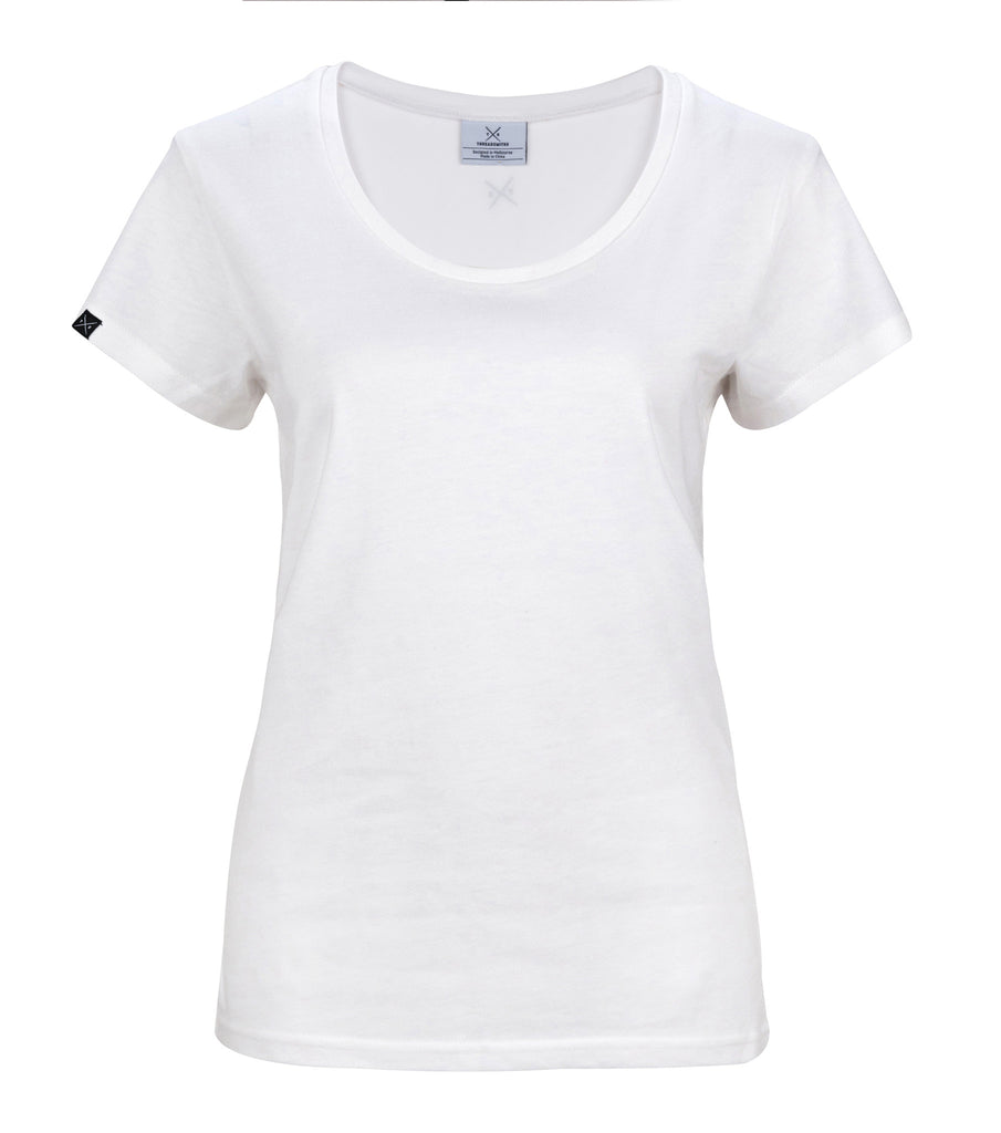 The cavalier women 39 s white t shirt threadsmiths for Who makes the best white t shirts