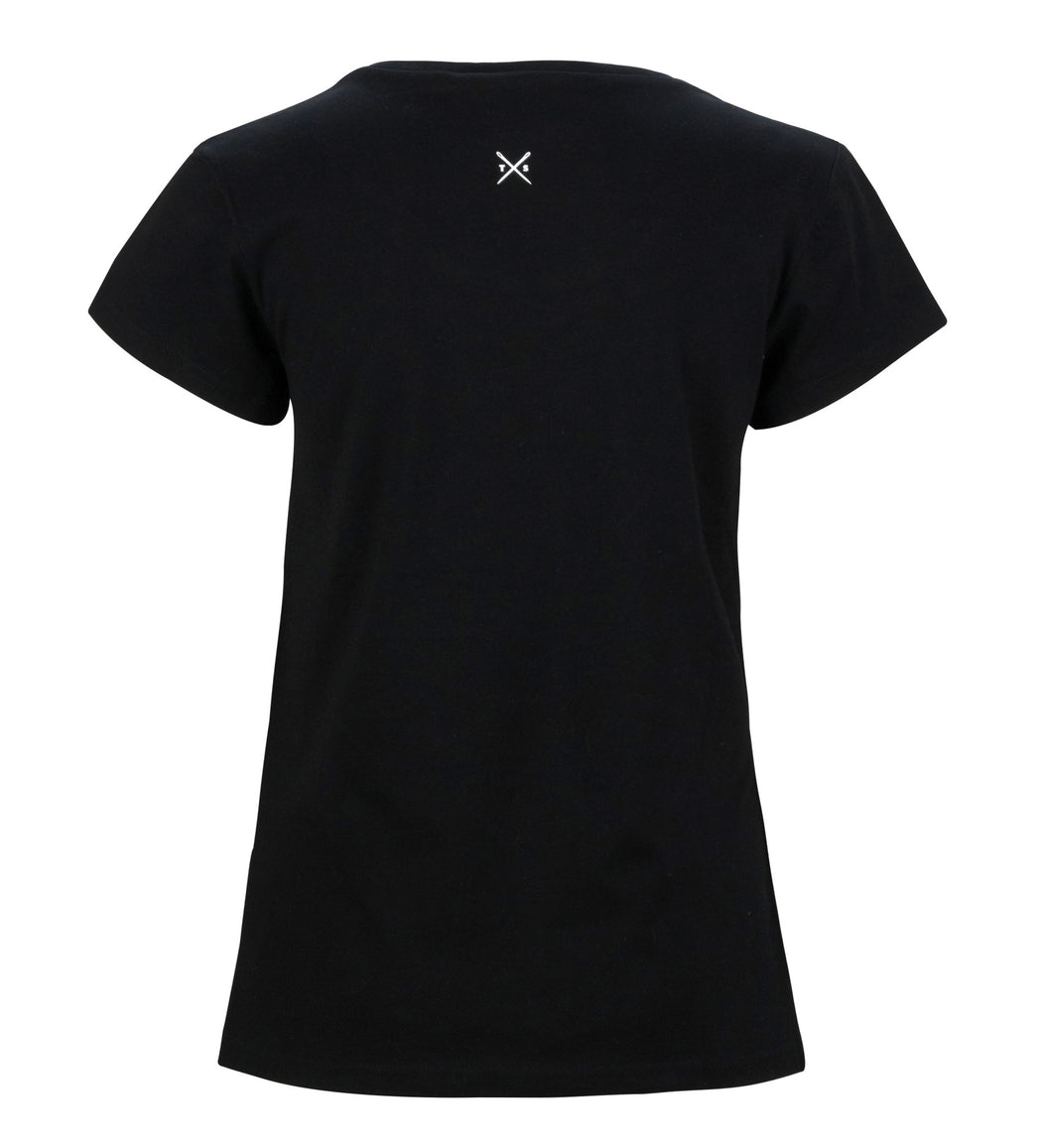 The Cavalier - Women's Black T-Shirt - Threadsmiths - 2
