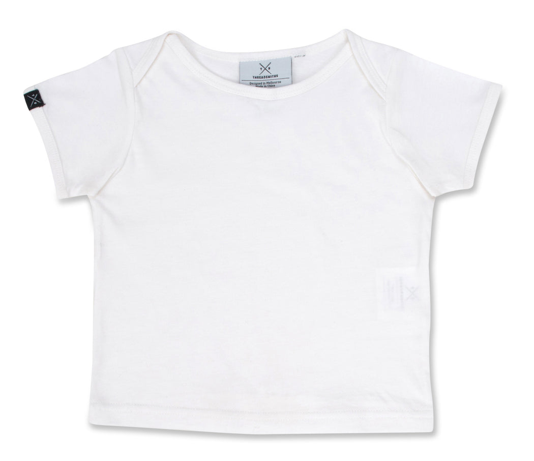 The Cavalier - Babies White T-Shirt - Threadsmiths - 1