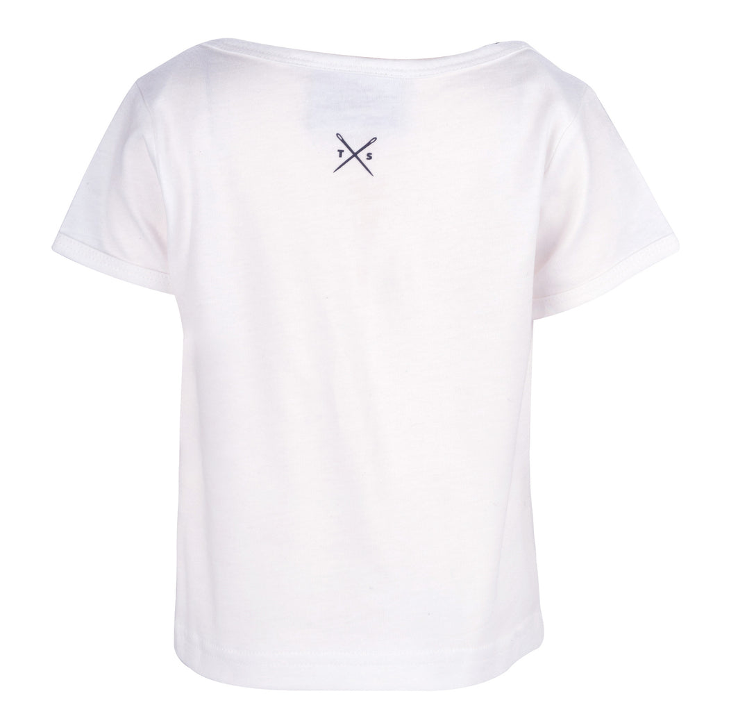 The Cavalier - Kid's White T-Shirt - Threadsmiths