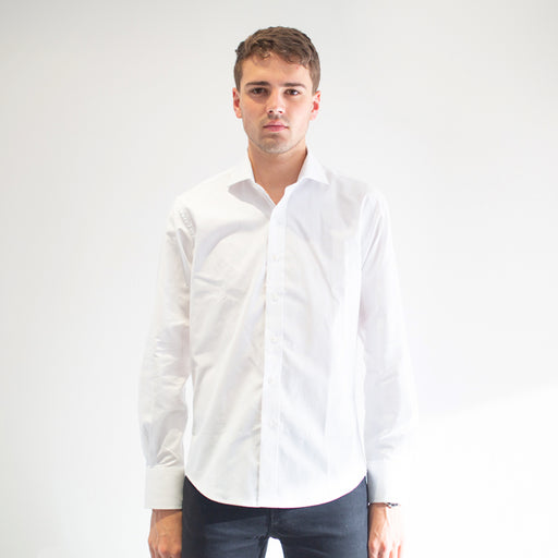 Grind - Men's White Dress Shirt - Threadsmiths
