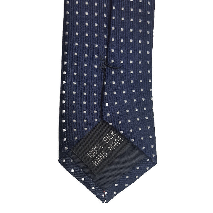 The Grind - Navy Blue Skinny Dot Tie - Threadsmiths - 3