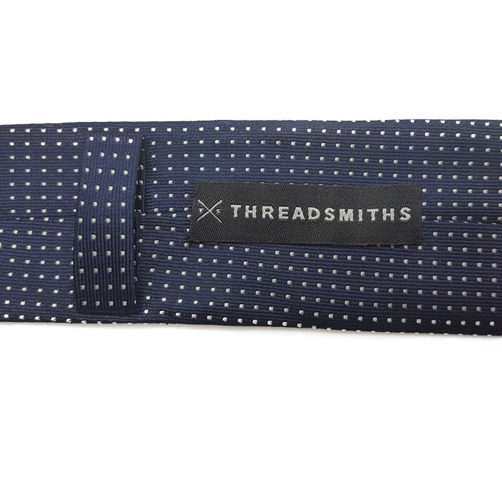 The Grind - Navy Blue Skinny Dot Tie - Threadsmiths - 4