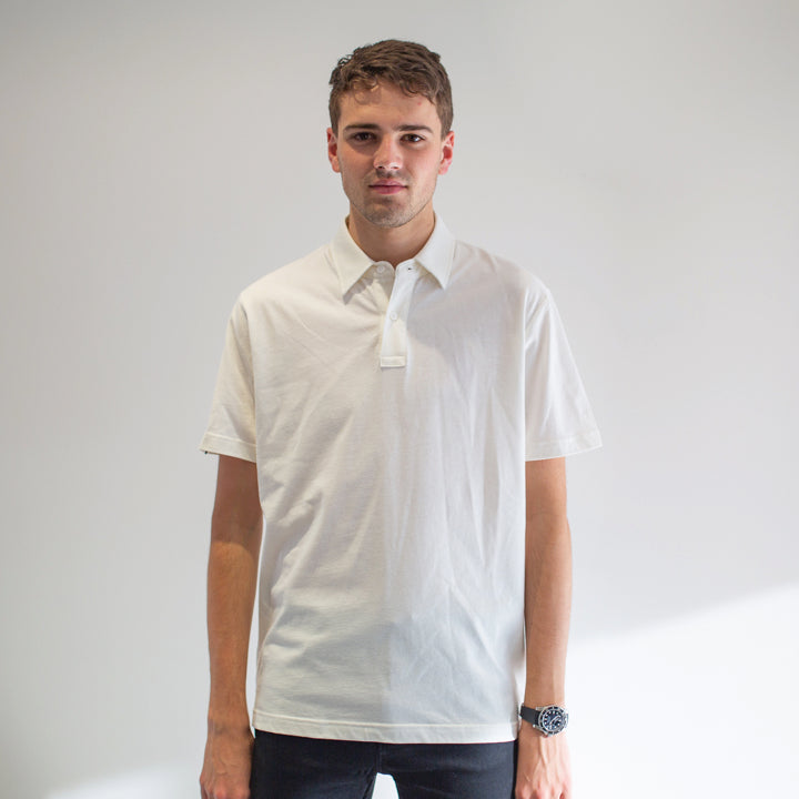 Game - Men's White Polo Shirt - Threadsmiths