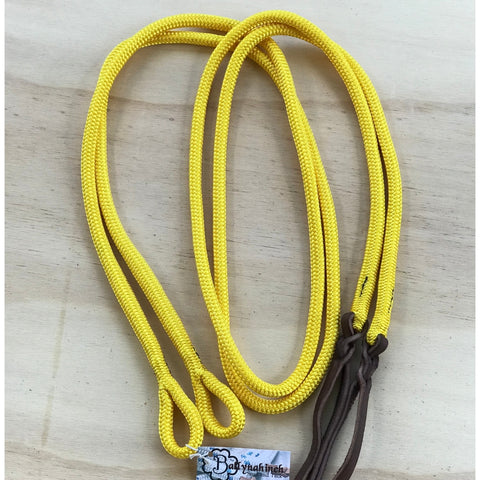 Ballynahinch Tack Rope Loop Split Reins - Yellow