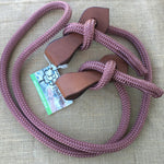 Ballynahinch Tack Rope Joined Reins with Slobber Straps - Brown