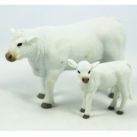Big Country Toys Charolais Cow and Calf-Order In