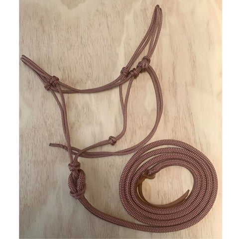 Ballynahinch Tack Rope Brown Halter/Lead Combo-M.T.O