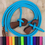 Ballynahinch Tack Rope Split Reins with leather slobber straps