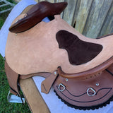 Ballynahinch Tack leather Close Contact Swinging Fender  Saddle