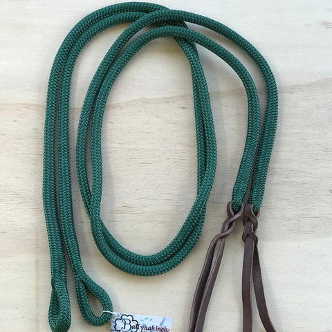 Ballynahinch Tack Rope Loop Split Reins- Green