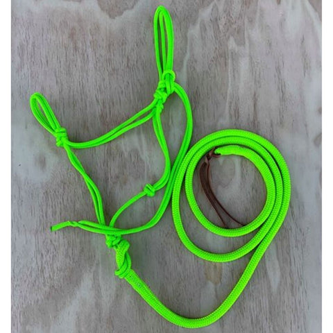 Ballynahinch Tack Rope Halter/Lead Combo- Lime Green