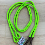 Ballynahinch Tack Rope Loop Split Reins- Lime Green