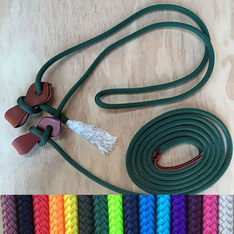 Ballynahinch Tack Rope Mecate Rein with Slobber Straps