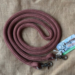Ballynahinch Tack Rope One Reins with clips- Brown