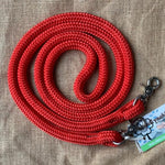 Ballynahinch Tack Rope One Reins with clips- Red