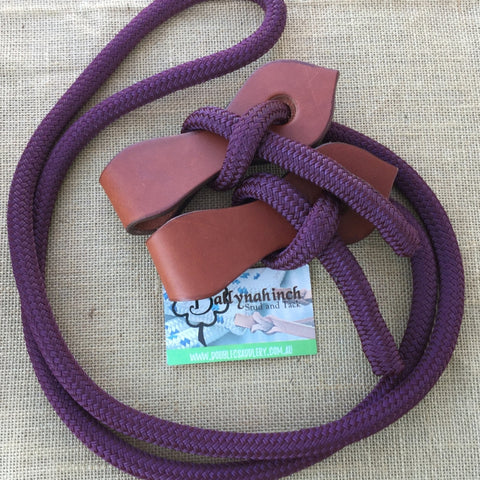 Ballynahinch Tack Rope Joined Reins with Slobber Straps - Wine