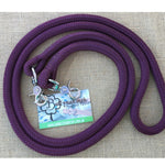 Ballynahinch Tack Rope One Reins with clips- Wine