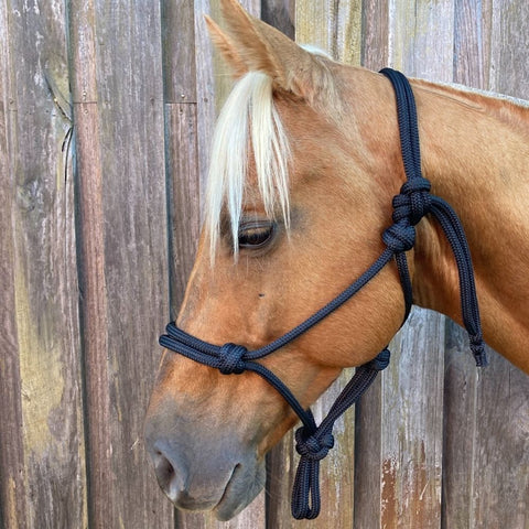 Ballynahinch Tack Rope Halter 10mm thick- Black