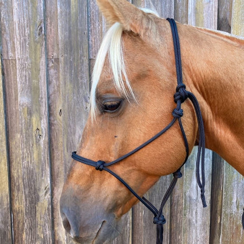 Ballynahinch Tack Rope Halter 6mm- Black