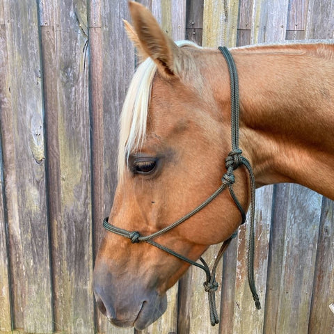 Ballynahinch Tack Rope Halter 6mm- Olive