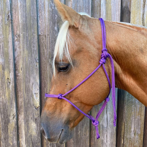 Ballynahinch Tack Rope Halter 6mm- Purple
