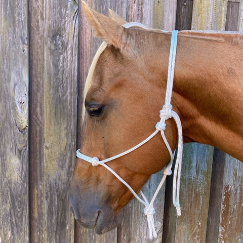 Ballynahinch Tack Rope Halter 6mm- White