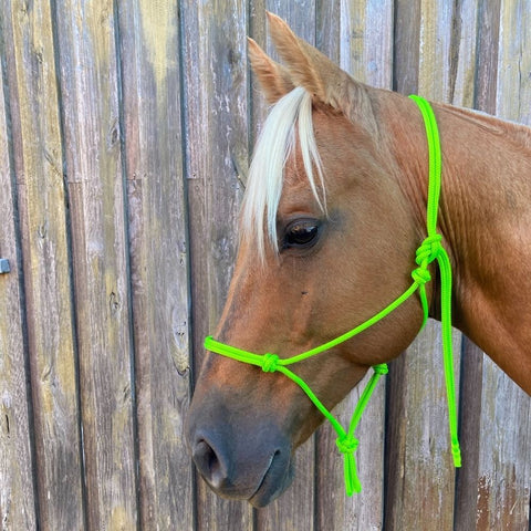 Ballynahinch Tack Rope Halter 6mm- Lime Green
