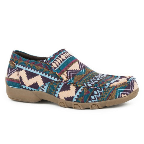 NEW ! Roper Mocs-Blue Aztec