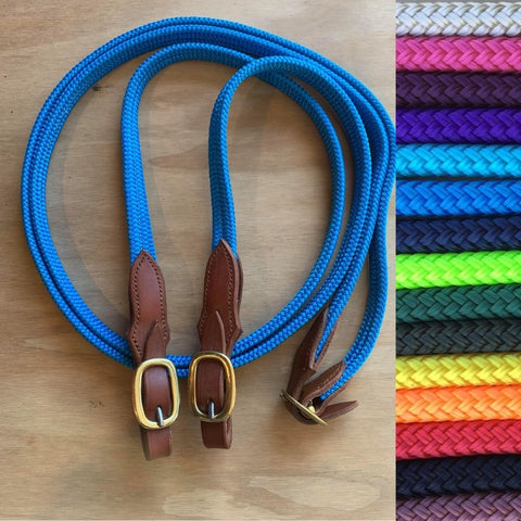 Ballynahinch Tack Rope Flat Joined Campdraft Reins-Buckle-M.T.O