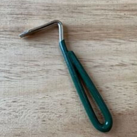 Metal Hoof Pick-Green