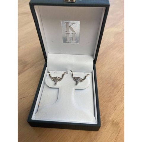 Kelly Herd Long Horn Earrings