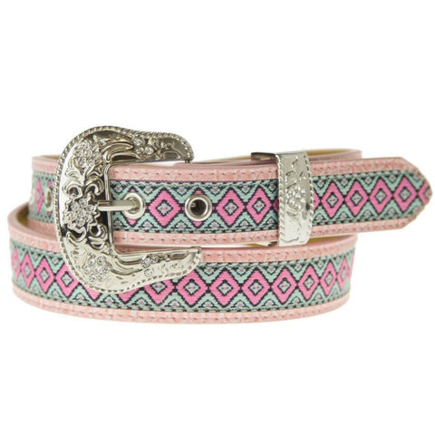 Brigalow Pink Aztec Girls Belt
