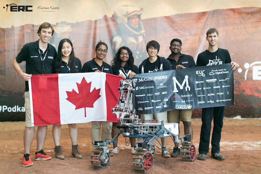 Some Components of the Mars Rover were 3D Printed for the McGill Robotics Team. They Won 3rd Place at the European Rover Challenge!