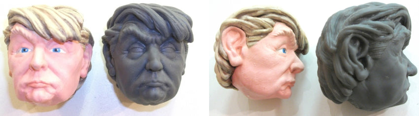 3D Printed Model of Donal J. Trump Painted. FormLabs SLA 3D Printer in Resin