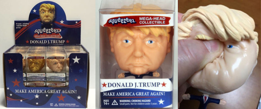 3D Model of Donald J. Trump into Collectible Squeeze Toy
