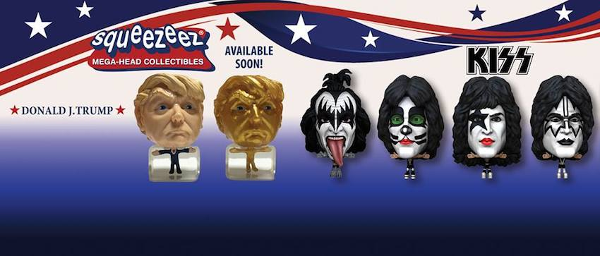 3D Printed Donald J. Trump - Kiss Bubble Heads