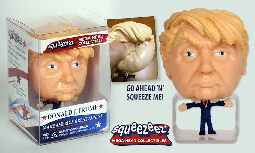 Donald J. Trump Bubble Head Squeezeez Toy 3D Printed