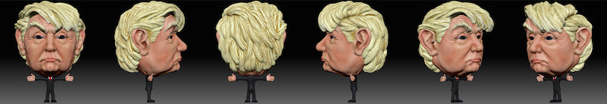 3D Design of Donald J. Trump