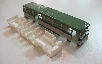 3D Printed Miniature Bus Model