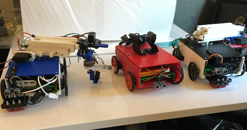 3D Printed Three-Robot System